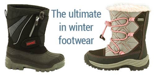 Eskimo snow boots for kids: breathable, snow proof, waterproof, chillproof